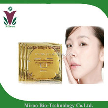 USA Shipping free 250pcs /lot 24k gold collagen crystal face mask, pure collagen face mask, gold powder face mask