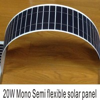 High efficiency flexible solar panel 20w, High Quality semi flexible solar panel
