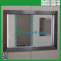 YSX1613 guangzhou customized with stainless frame x-ray protection medical lead glass
