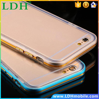 5S Metal Cases Luxury Hybrid Aluminum Frame + Clear TPU Matte Gel Case For iPhone 5 5S 5G Slim Shockproof Back Cover Capa