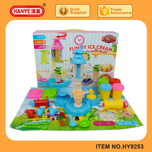 HY9253/9254 Colorful ice cream machine share and rotation playdough, color mud, plasticine