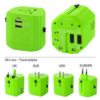 Gift items in China all in one adapter travelling gifts USB multination dual fused travel adapter