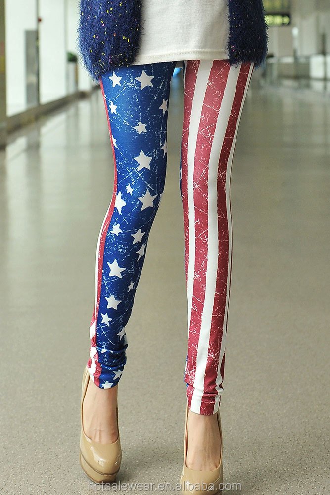 Fashion American Flag Print Women Legging LC79303