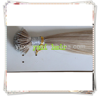 could supply free sample to check the quality nano bead human hair extension