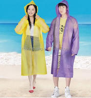 YunShang clear adult PVC rain poncho raincoat with logo