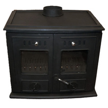 LF Strongest 30KW Cast Iron Double Doors Solid Fule Wood Burning Stove For Water Radiators