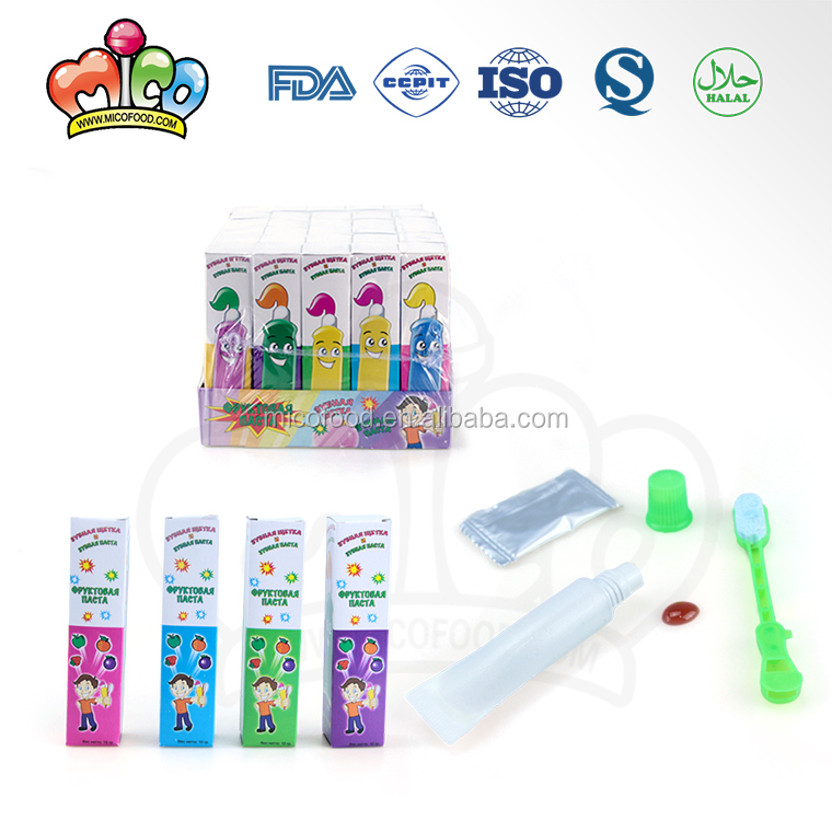 toothpaste toothbrush popping  liquid candy