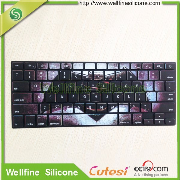 Colourful protective Silicone Skin for laptop unique Ultra Thin Durable Keyboard Cover