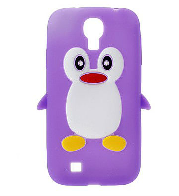 For Samsung Galaxy S4 I9500 Hot Selling Lovely Penguin Pattern Silicone Protective Case