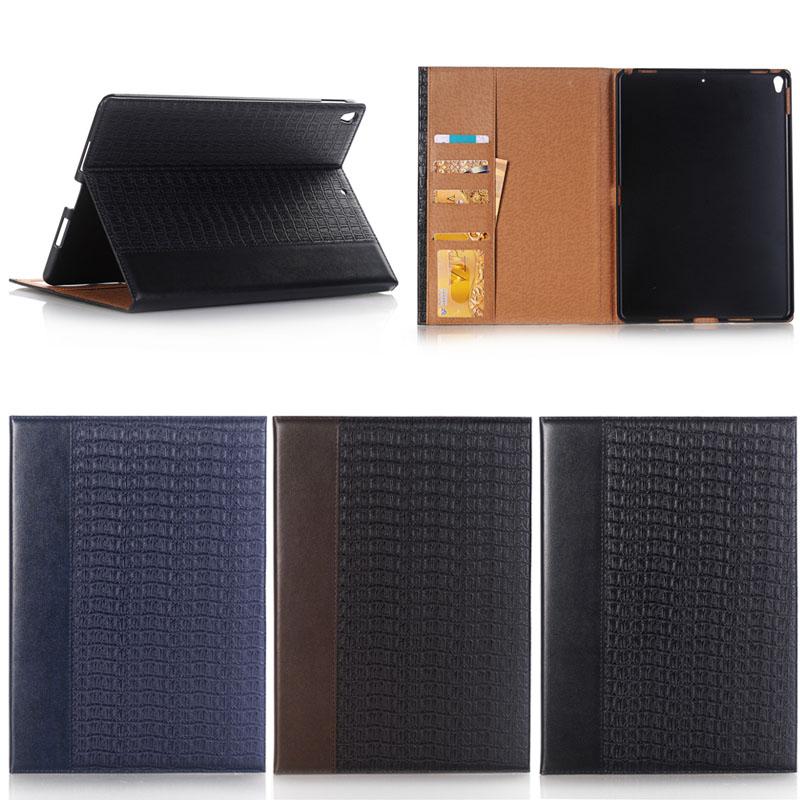 Luxury Crocodile Pattern Stand Book Leather Case For iPad Pro 10.5