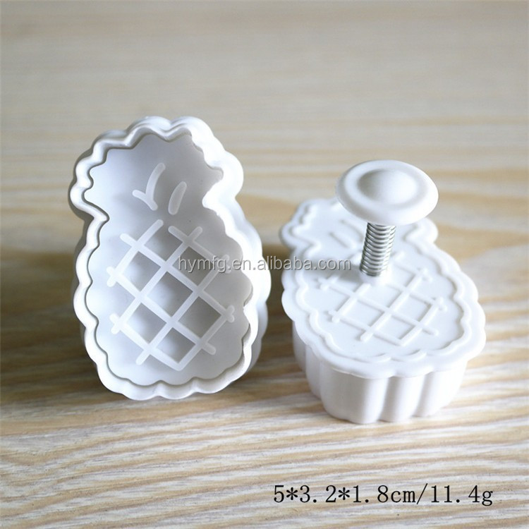 3D fruit cookie cutter for pineapple shaped fondant plunger cookie cutter cutters