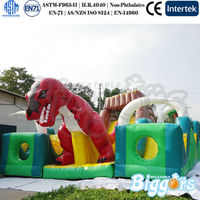 Dinosaur Giant Inflatable Playground Inflatable Bouncer Slide Giant Inflatable Slide