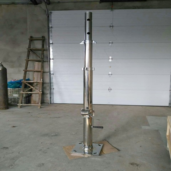 1-30m height stainless steel winch telescopic mast