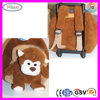A364 Animal Removable Plush Rolling Luggage