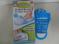 Easy Feet Foot Scrubber Bath Shower Scrub Brush Massager Pumice AS Seen On TV Usd For Clean Bathroom Shoes