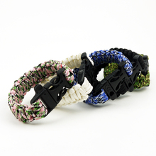 Professional outdoor emergency tools survival bracelet 550 paracord best wilderness survival-kit for camping/fishing & more//