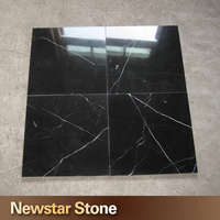Chinese hot sales polished nero marquina black marble