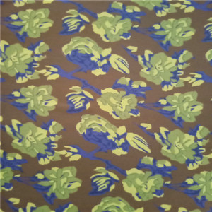 High quality navy floral chiffon 100% polyester print fabric
