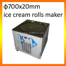 Frozen yogurt Ice cream machine one big flat pan 700mm for shops/cart/truck business