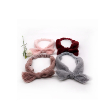 Soft facial mask spa bathing faux fur hair band elastic