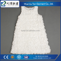 comfortable children girls white lace dress