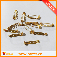 25mm Brooch Locking Bar Findings Gold Safety Catch Latch Pin Back
