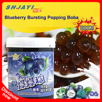 2018 New Product Bubble Tea Recipe Flavors Blueberry Popping Juice Bursting Boba Tapioca Ball Manufacturers