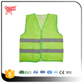 Reflecting clothing with safety vest curve stripes in100% ployester 60gsm
