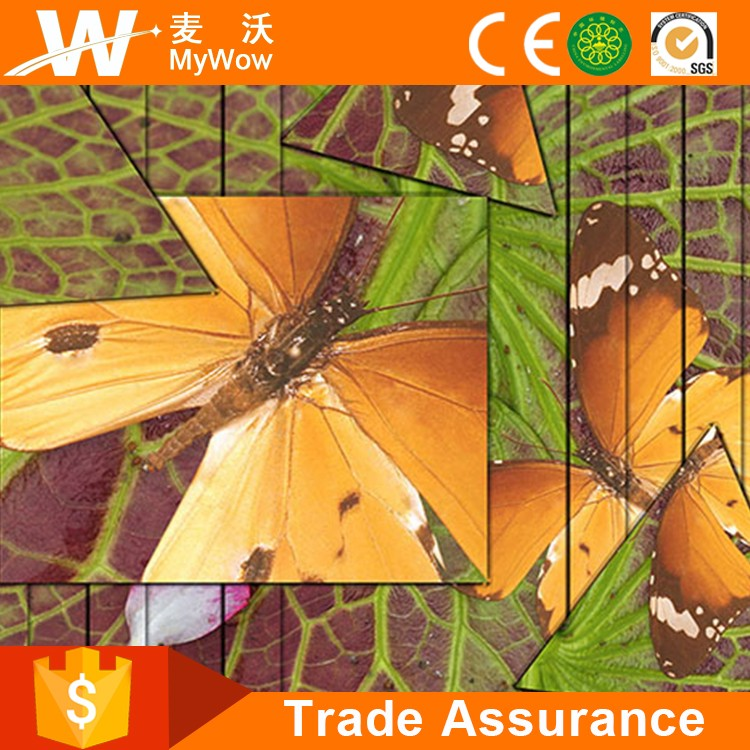 [YL-D014] Guangzhou Price High Quality 3D Printing Wallpaper with Butterfly Patterns