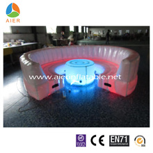 Fashon inflatable sofa chair,LED inflatbale sofa with table