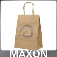 promotion printing package bag retail kraft paper bag with your own logo