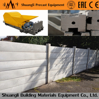 precast concrete boundary wall panel extrusion machine for cement fencing