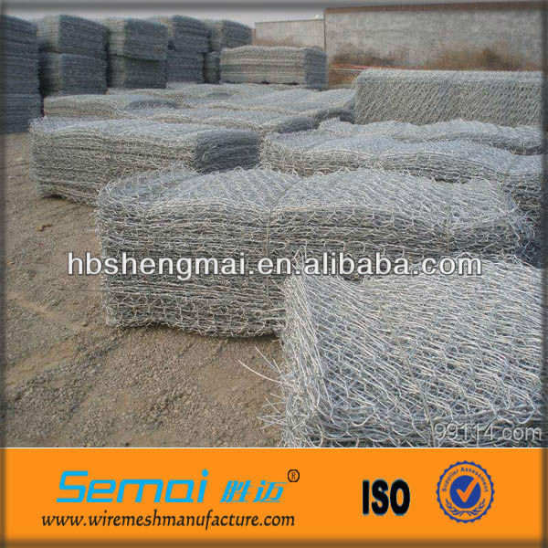 Stone Gabion Netting/Hexagonal Gabion Box/Hot-dipped Galvanized Gabion Mesh