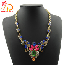 New selling unique design hanging plated zinc alloy iron chain necklace