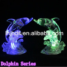 LED crystal Christmas Dolphin mini night light changing 7 colors lamps home decoration light