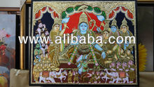 indian traditional gold leaf tanjore paintings