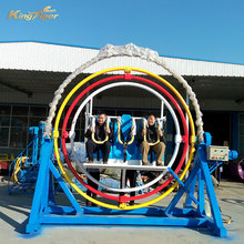 Outdoor amusement ride 3d human gyroscope for sale