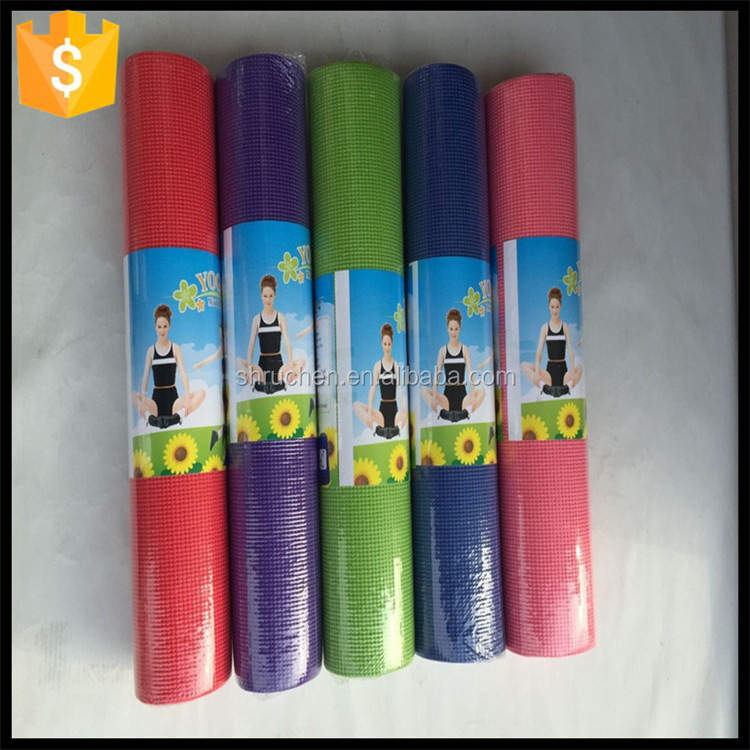 High quality nice grade embossed logo pvc yoga mat