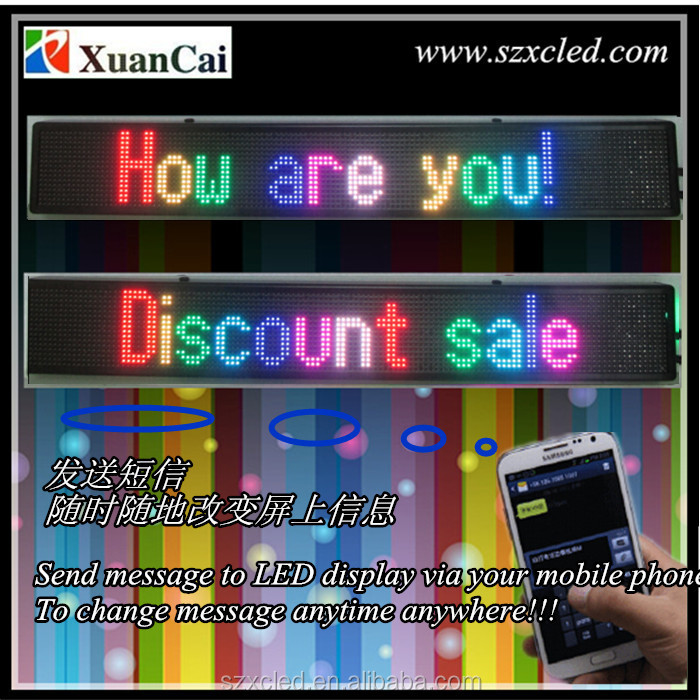 Indoor messages SMS/USB communication P6-16x128RGB full color LED board/panel/screen/sign/display