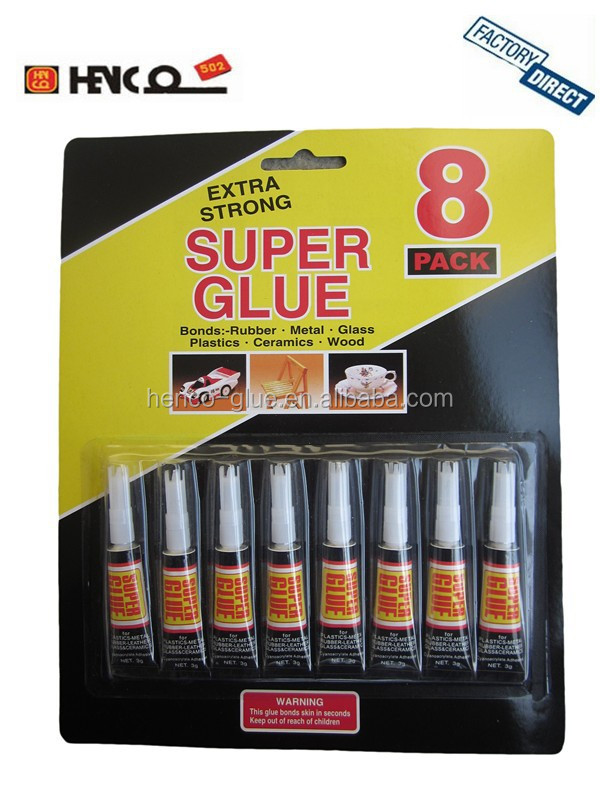 3g Tube 8pcs Cyanoacrylate Adhesive 502 Super Glue