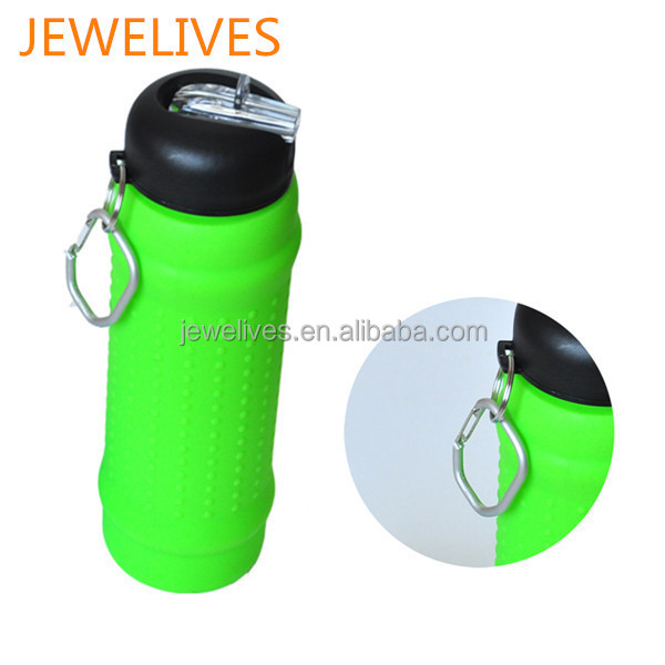 Small business ideas silicone collapsible water bottle