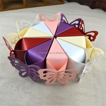 Candy box bag chocolate paper gift box small cake butterfly lace Birthday Wedding Party Decoration craft DIY favor baby shower