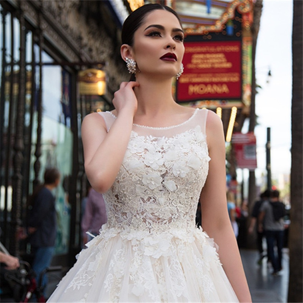 Africa Wedding Gowns Vestido de novia Ball Gown Bridal Gowns Lace Wedding Dresses 2019 Sexy Backless Bridal Dresses A267