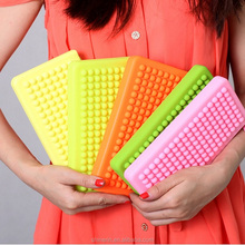 Cheap Women's Silicone Wallet Clutch Bag Zipper Wristlet Purse Handbag