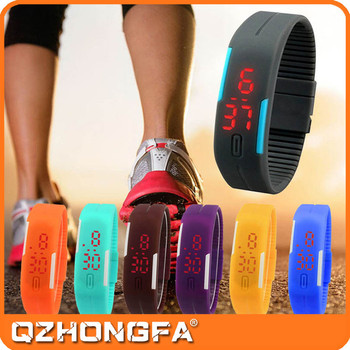 2015 Hot Sale Led Watch Sport Stainless steel Back