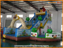 attractive inflatable cartoon character slide for kids