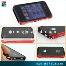 For iPhone4 4s Aluminum Bumper with Carbon Fiber Sticker