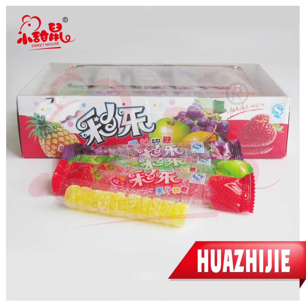 218201610 Syrup Fruit Jelly Soft Gummies Candy