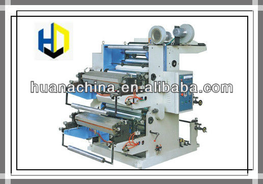 Newest Type Two Color Flexographic Plastic Bag Printing Press