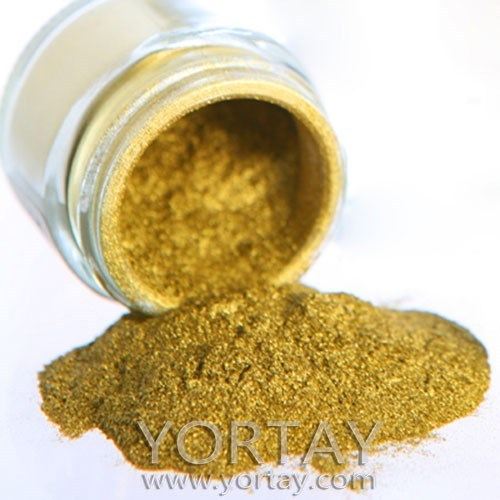 Gold Mica powder Pearl Pigment / Pearlescent Pigment for coating